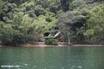 Huts on Nosy Mangabe