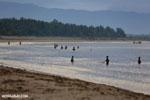 Villagers fishing on a beach in Maroantsetra [madagascar_maroantsetra_0261]
