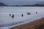 Villagers fishing on a beach in Maroantsetra [madagascar_maroantsetra_0281]