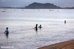 Villagers fishing on a beach in Maroantsetra [madagascar_maroantsetra_0282]