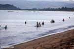 Villagers fishing on a beach in Maroantsetra [madagascar_maroantsetra_0283]