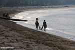Villagers fishing on a beach in Maroantsetra [madagascar_maroantsetra_0285]