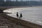 Villagers fishing on a beach in Maroantsetra [madagascar_maroantsetra_0286]