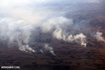 Aerial photo of fires in Madagascar