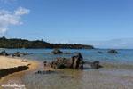 White sand beach at Tampolo on the Masoala Peninsula [madagascar_masoala_0709]