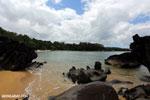 Boulders on a beach in Tampolo Marine Park on the Masoala Peninsula [madagascar_masoala_0814]