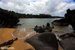 Boulders on a beach in Tampolo Marine Park on the Masoala Peninsula [madagascar_masoala_0815]