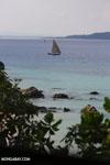 Boat off Nosy Komba [madagascar_nosy_komba_0101]