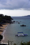 Boats along a beach on Nosy Komba
