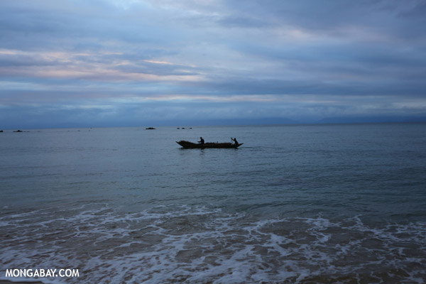 Boat in the Bay of Antongil