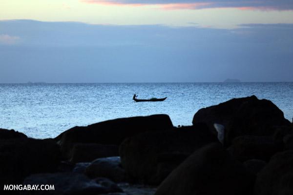 Boat off the Masoala Peninsula