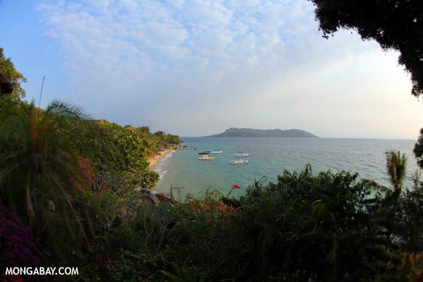 Beach and coast on Nosy Komba