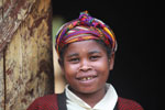 Woman in village near Mantadia [madagascar_0998]