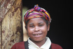 Woman in village near Mantadia [madagascar_0999]