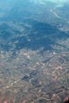 Airplane view of deforestation in Madagasar