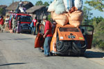 Heavily overloaded Peugeot in Madagascar [madagascar_4509]