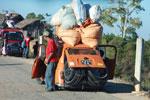 Heavily overloaded Peugeot in Madagascar [madagascar_4510]