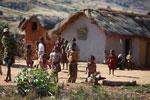 Children in a village in the Tsaranoro Valley