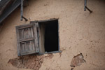 Window in an adobe home in Madagascar