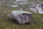 Large rectangular boulder