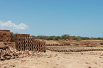 Brick-making near Tulear [madagascar_7574]