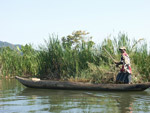 Man in a pirogue