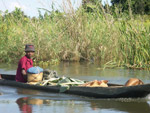 Woman in a pirogue