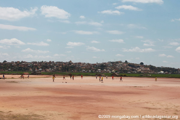 Football being played in Tana