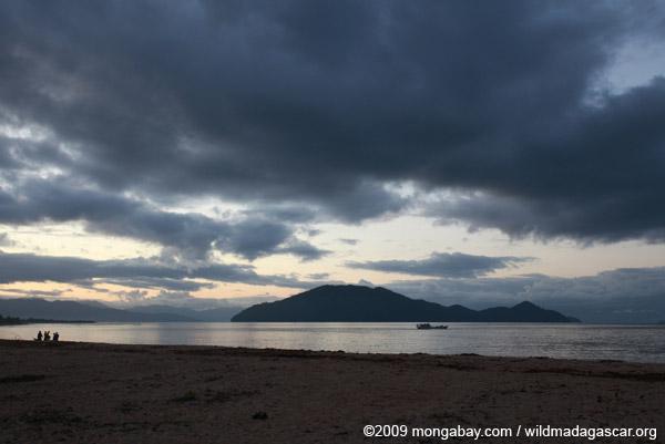 Nosy Mangabe seen from the beach in Maroantsetra
