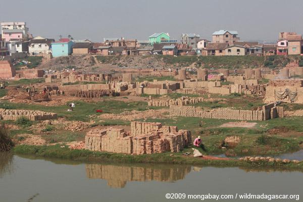 Brick-making area in Tana
