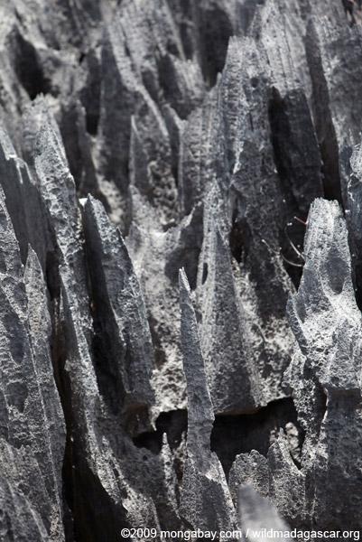 Sharp tsingy pinnacles