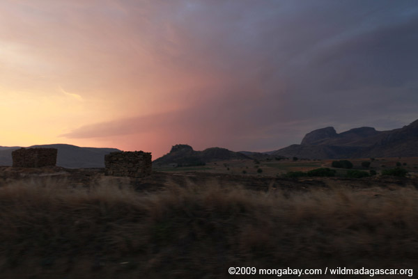 Tombs at sunset