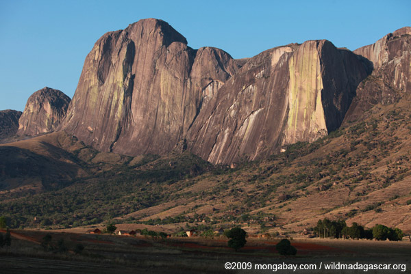 Tsaranoro Mountain, 2625-foot face of granite