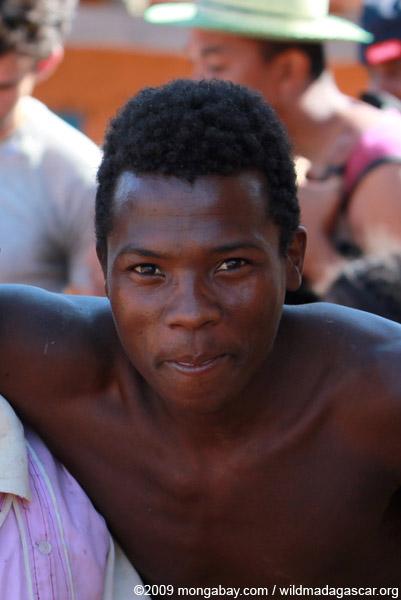 Boy in a Tsaranoro Valley village