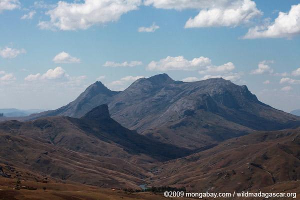 Mountain forming the Antanifotsy Valley