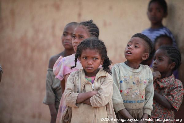 Kids in an Antanifotsy Valley village