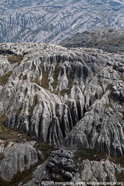 Rutted granite atop Andringitra's Chaine de Montagne Ampiadrianombilahy