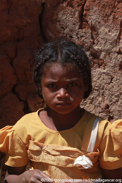 Girl in an Antanifotsy Valley village