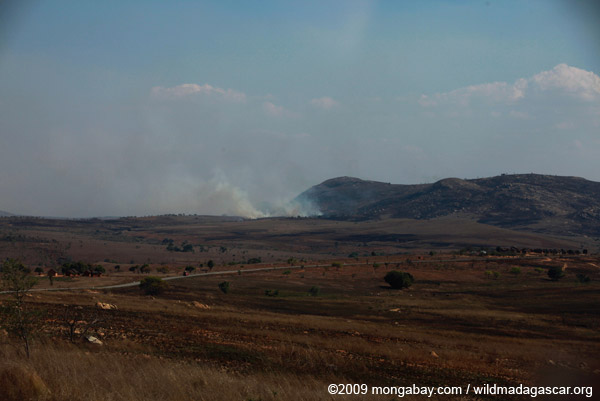 Plains fire in Madagascar