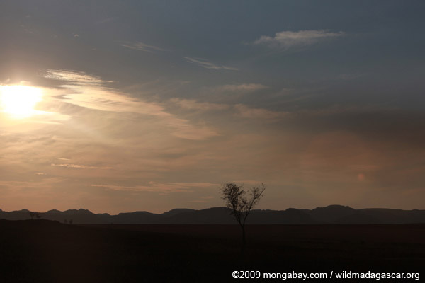 Isalo Massif at sunset