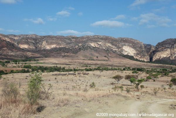 Ranohira village near the Isalo massif