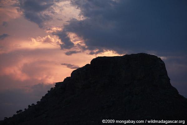 Mesa in Madagascar at sunset