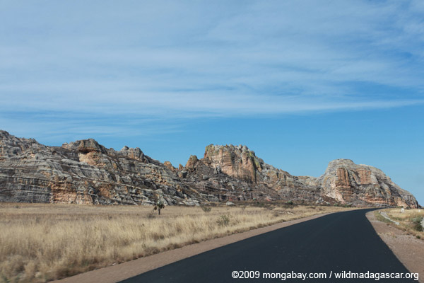 Rock formations near Isalo along the RN7