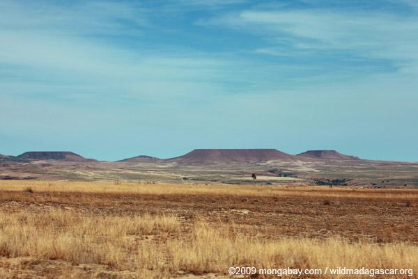 Flat-top mesas in southwestern Madagascar