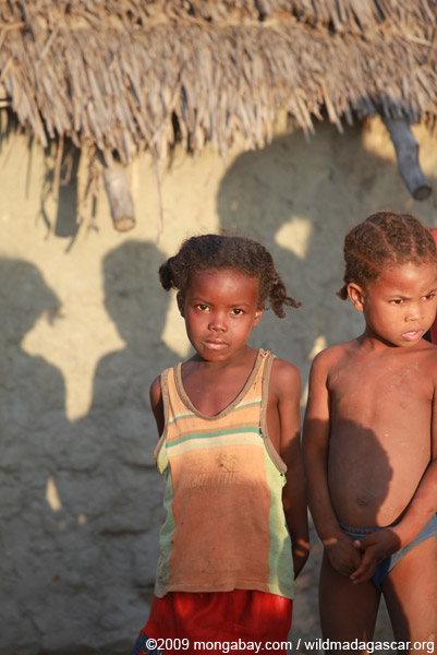 Kids in village outside of Tulear