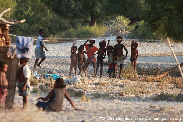 Kids in village outside of Tulear