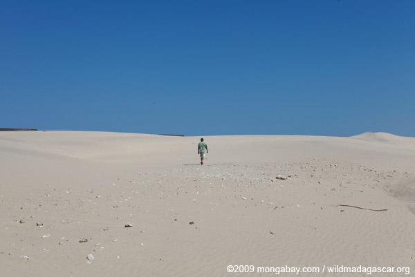 Walking towards Arovana (Ankorohoke) across a barren landscape