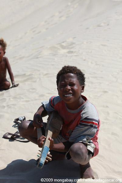 Vezo boy in Arovana (Ankorohoke)