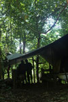 Ranger camp in Borneo