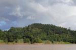 Rainbow over an oil palm plantation in Borneo